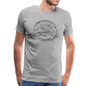 Men's Followed My Heart (distressed) T-Shirt - heather gray