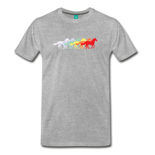 Load image into Gallery viewer, Men's Retro Rainbow Horse T-Shirt - heather gray