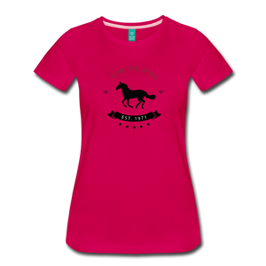 Women's Live to Ride T-Shirt - dark pink