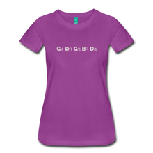 Load image into Gallery viewer, Women's Banjo Tuning T-Shirt - light purple