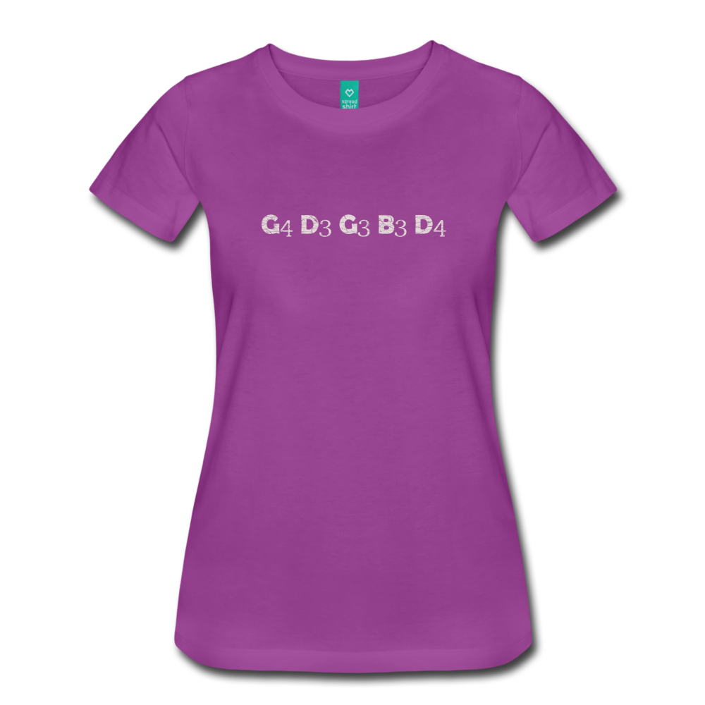 Women's Banjo Tuning T-Shirt - light purple