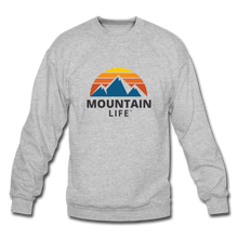 Load image into Gallery viewer, Mountain Life Sweatshirt - heather gray