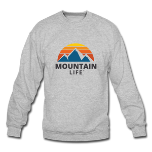 Mountain Life Sweatshirt - heather gray