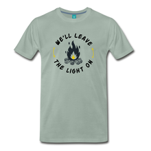 Load image into Gallery viewer, Men's We'll Leave the Light On T-Shirt - steel green
