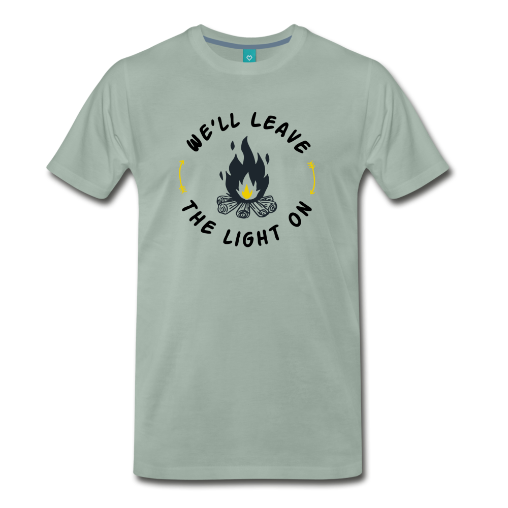 Men's We'll Leave the Light On T-Shirt - steel green