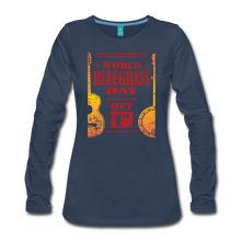 Load image into Gallery viewer, Women's Faded World Bluegrass Day Long Sleeve T-Shirt - navy
