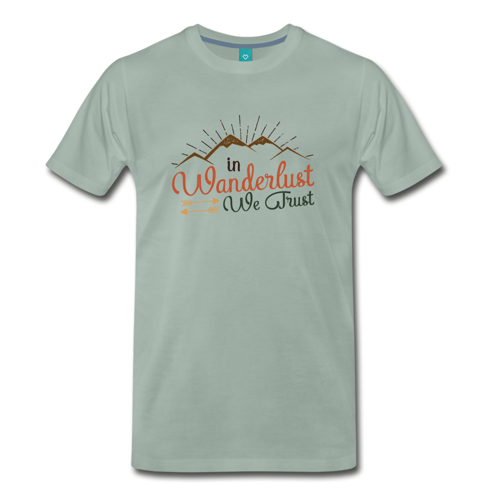Men's Wanderlust T-Shirt - steel green