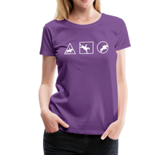 Load image into Gallery viewer, Women's Horse Symbols (solid) T-Shirt - purple