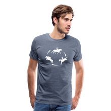 Load image into Gallery viewer, Men's 3-Day Eventing Circle T-Shirt - heather blue