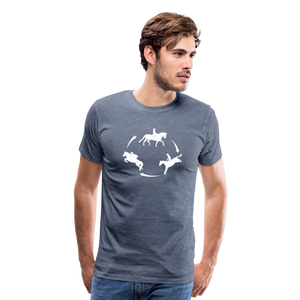 Men's 3-Day Eventing Circle T-Shirt - heather blue