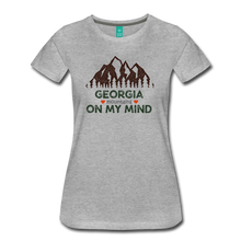 Load image into Gallery viewer, Women's Georgia on my Mind T-Shirt - heather gray