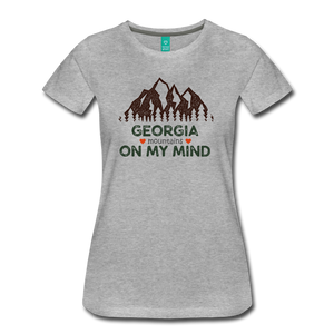 Women's Georgia on my Mind T-Shirt - heather gray