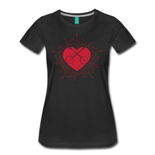 Load image into Gallery viewer, Women's Sunburst Heart Banjo T-Shirt - black