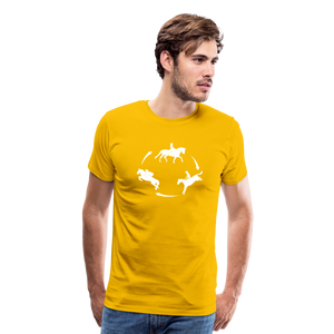 Men's 3-Day Eventing Circle T-Shirt - sun yellow