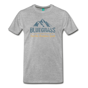 Men's Bluegrass Mountains Speak T-Shirt - heather gray