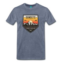 Load image into Gallery viewer, Men's Sunset T-Shirt - heather blue