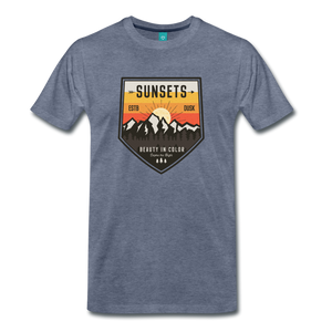 Men's Sunset T-Shirt - heather blue