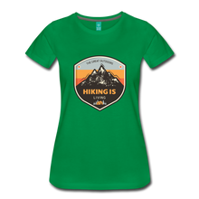 Load image into Gallery viewer, Women's Hiking T-Shirt - kelly green