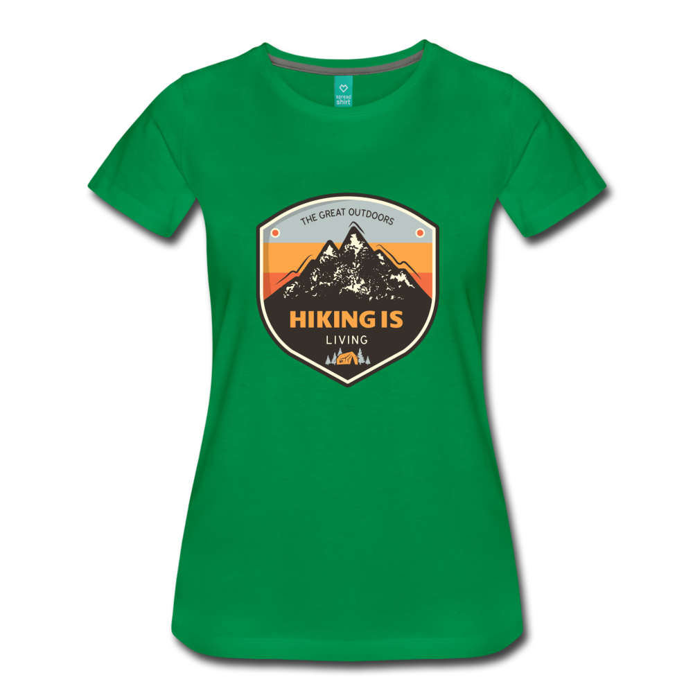 Women's Hiking T-Shirt - kelly green