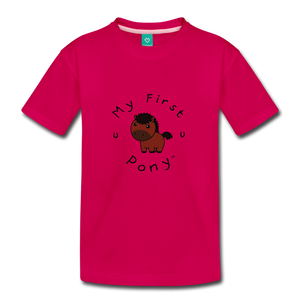 Toddler My First Pony T-Shirt (bown) - dark pink