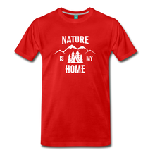 Load image into Gallery viewer, Men's Nature T-Shirt (white) - red