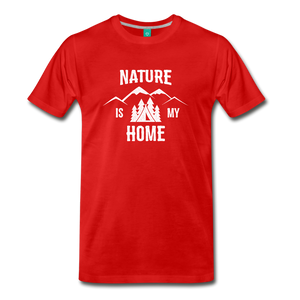 Men's Nature T-Shirt (white) - red