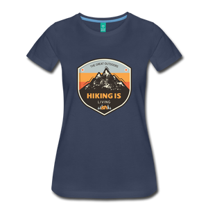 Women's Hiking T-Shirt - navy