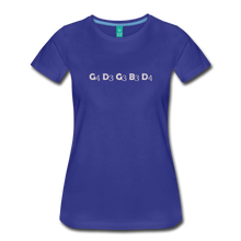 Load image into Gallery viewer, Women's Banjo Tuning T-Shirt - royal blue