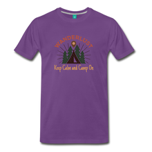 Load image into Gallery viewer, Men's Keep Calm, Camp On - purple