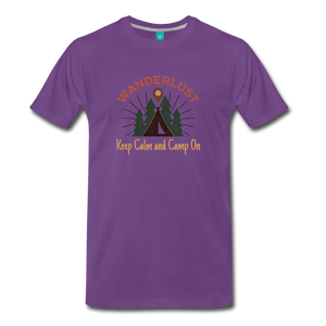 Men's Keep Calm, Camp On - purple