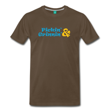 Load image into Gallery viewer, Men's Pickin and Grinnin T-Shirt - noble brown