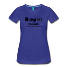 Load image into Gallery viewer, Women's Bluegrass Definition T-Shirt - royal blue