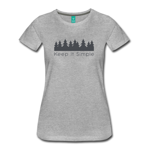 Women's Keep It Simple T-Shirt - heather gray