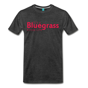 Men's Bluegrass Kinda Life T-Shirt - charcoal gray