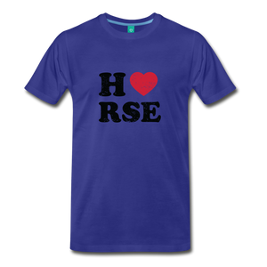 Men's Horse Large Letters T-Shirt - royal blue