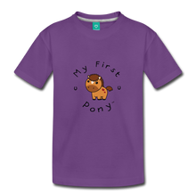 Load image into Gallery viewer, Toddler My First Pony T-Shirt (light brown) - purple
