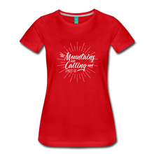 Load image into Gallery viewer, Women's Mountain Calling T-Shirt (white) - red