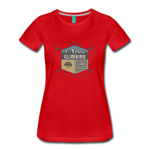 Women's Climbing T-Shirt - red