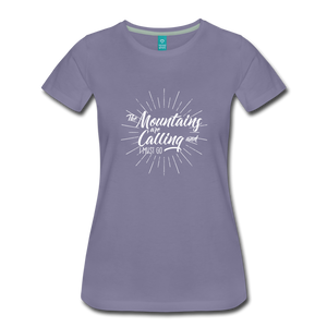 Women's Mountain Calling T-Shirt (white) - washed violet