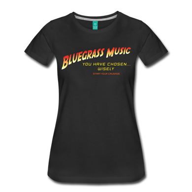 Women's Bluegrass Chosen Wisely T-Shirt - black