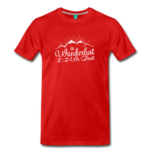 Load image into Gallery viewer, Men's Wanderlust T-Shirt (white) - red
