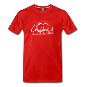Men's Wanderlust T-Shirt (white) - red