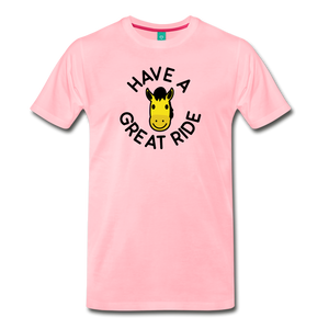 Men's Have a Great Ride T-Shirt - pink