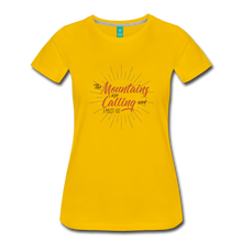 Load image into Gallery viewer, Women's Mountain Calling T-Shirt - sun yellow