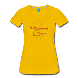 Women's Mountain Calling T-Shirt - sun yellow