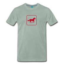 Load image into Gallery viewer, Men's Horse Icon T-Shirt - steel green