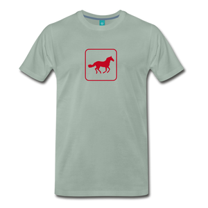 Men's Horse Icon T-Shirt - steel green