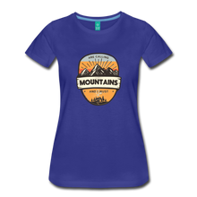 Load image into Gallery viewer, Women's Mountain's Calling T-Shirt - royal blue