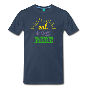 Men's Eat Sleep Ride T-Shirt - navy
