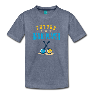 Kids' Future Banjo Player T-Shirt - heather blue